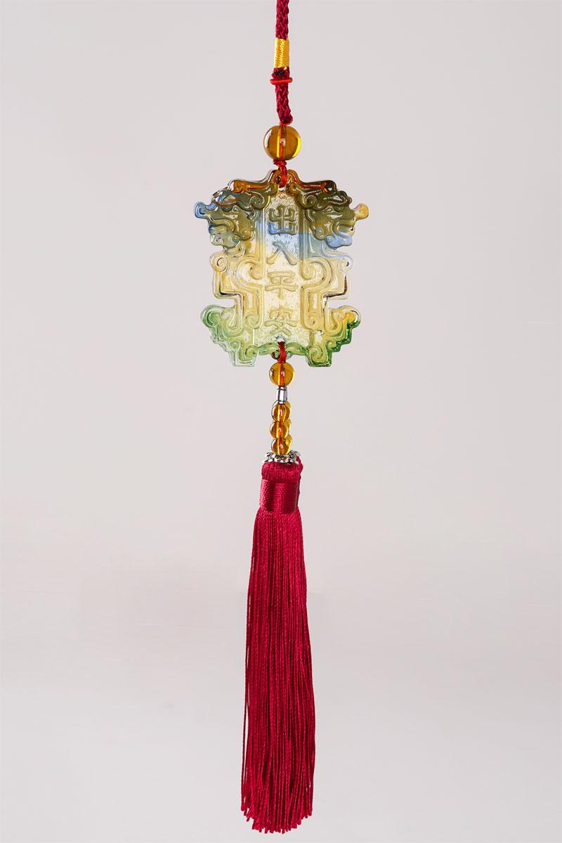 琉璃挂件饰品|汽车挂件饰品|琉璃工艺品压铸|礼品挂件